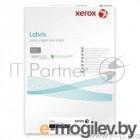 Наклейки Laser/Copier XEROX А4:36делений, 100 листов  Прямоугольные края