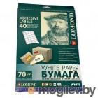 Самоклеящаяся бумага LOMOND универсальная для этикеток, A4, 2 делен. (210 x 148.5 мм), 70 г/м2, (1650шт.)