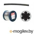 Трос стальной в ПВХ SWR М5 PVC М6 DIN 3055 (бухта 100 м) STARFIX (SMP-53736-100)