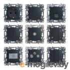 ETIKA Светорегулятор нажимной 400Вт, антрацит ETIKA Светорегулятор нажимной 400Вт, антрацит