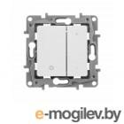 ETIKA Светорегулятор нажимной 400Вт, бел. ETIKA Светорегулятор нажимной 400Вт, бел.