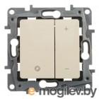 ETIKA Светорегулятор нажимной 400Вт, сл. кость ETIKA Светорегулятор нажимной 400Вт, сл. кость