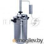 Автоклав-стерилизатор Домашний погребок 2в1, 22л нерж, манометр, термометр, клапан сброса изб. давления+надстройка Классик