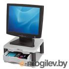 Подставка Fellowes® PREMIUM PLUS под монитор, нагрузка до 36 кг, регулировка высоты, серая.