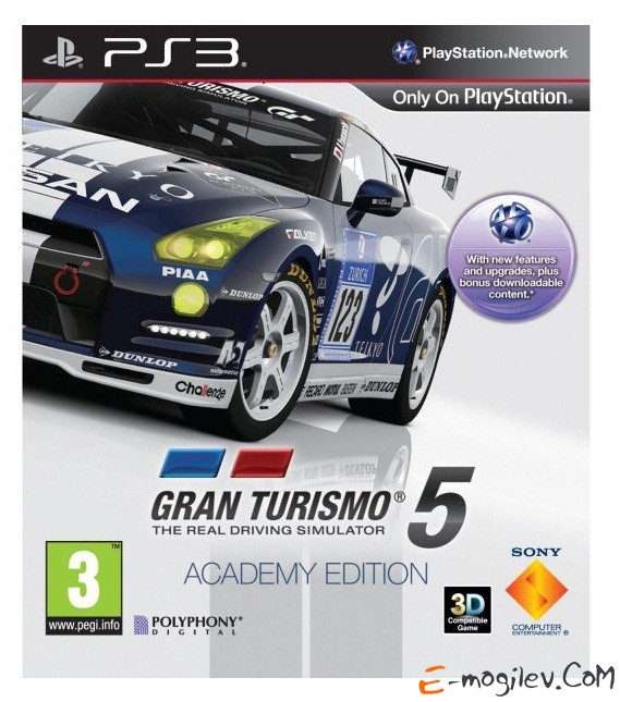 Sony PlayStation 3 Gran Turismo 5 Academy Edition (3D) rus