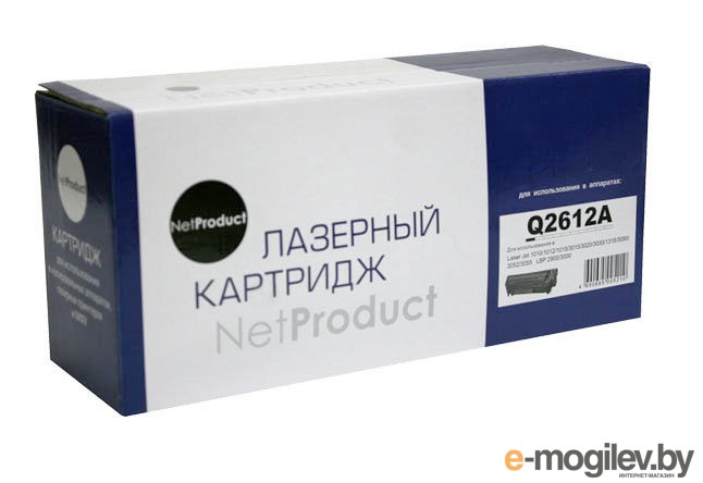 Картридж HP LJ 1010/1020/3050 (NetProduct) NEW Q2612A, 2K