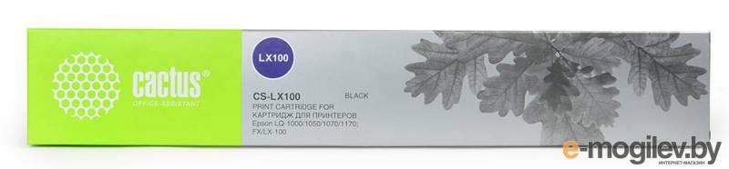 Картридж ленточный Cactus CS-LX100 черный для Epson LX-100/ActionPrinter(AP)-2250