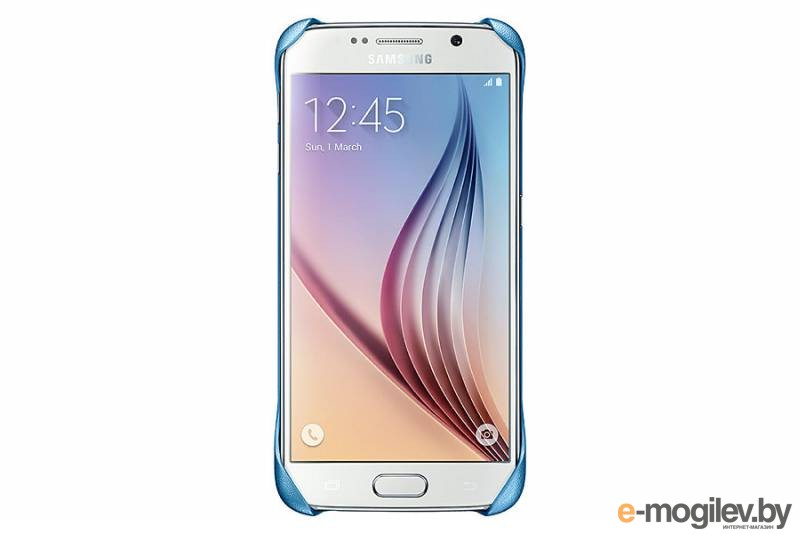 Чехол (клип-кейс) Samsung для Samsung Galaxy S6 Protective Cover голубой (EF-YG920BLEGRU)