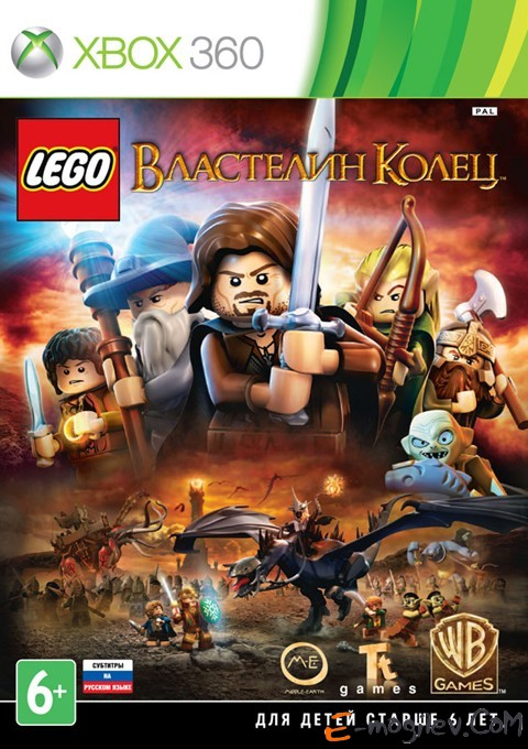Microsoft XBOX360 LEGO Властелин Колец rus sub