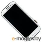 дисплей в сборе с тачскрином и передней панелью Samsung Galaxy S3 GT-I9300, белый GH97-13630B