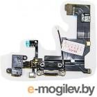 шлейф с разъёмом зарядки ,микрофоном, гарнитуры, контактами под клавишу HOME и антенной для Apple Iphone 5, черный