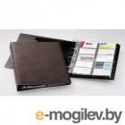 Визитница Durable на 400 карт PVC коричневая
