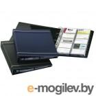 Визитница Durable на 400 карт PVC темно-серая/серебро