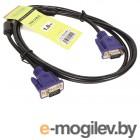 Кабель соединительный SVGA (15M/M) 1,8m 2 фильтра TV-COM <QCG120H-1.8M>