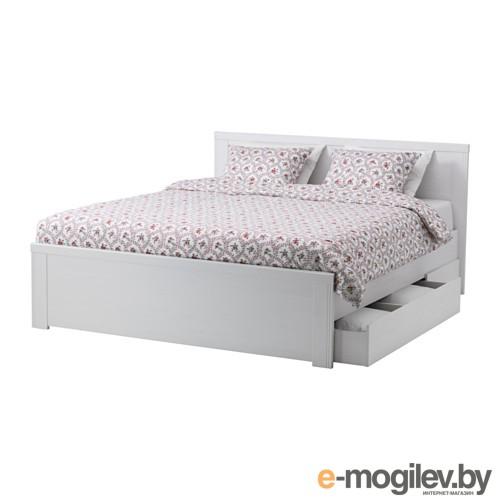 Каркас кровати с 4 ящиками БРУСАЛИ