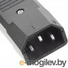 Вилка Lanmaster IEC 60320 C14 10A 250V разборная черная