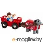Лошадка с тележкой и человечком Brio  33794