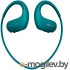 Mp3 Плеер - 4Gb Sony [NW-WS413L] <Blue> Bluetooth, Водонепроницаемый