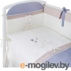 Комплект в кроватку Perina Котята КТ4-01.4 (лазурь)