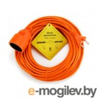 PowerCube PC-E1-B-20 6А, 1 розетка, 20 м. 2*0,75мм2, оранжевый