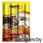 400167 GIMСАT Лакомые палочки  (птица и печень) для кошек 4шт.