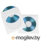 Конверты Hama для CD/DVD, бумажные с прозрачным окошком, 25 шт., белый  H-51179