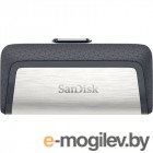 Sandisk 128Gb Ultra Dual SDDDC2-128G-G46 USB3.0 серый/узор