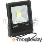 Прожекторы, светильники для уличного освещения ЭРА 30W LPR-30-6500К-Мчерный {Прожектор светодиодный 30W, 6500К}