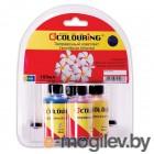 Комплект универсальных чернил для принтеров Canon /Epson, Black/Cyan/Magenta/Yellow, 4*40 мл водн Colouring