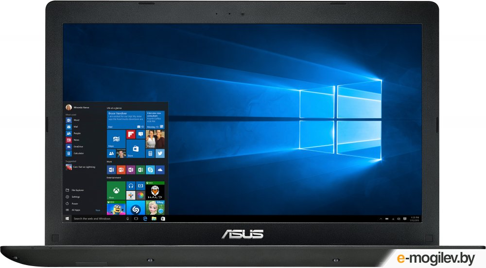 "ASUS X553SA 15.6""/Intel Celeron N3050(1.6GHz)/2Gb/500Gb/Intel HD/no DVD/WiFi/BT 4.0/Cam/Win10/Black <90NB0AC1-M01470>"