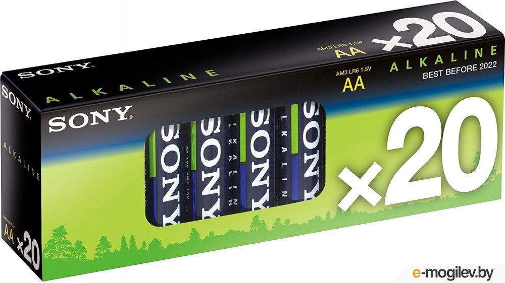 """Набор батареек (AAx20шт.) - """"Sony"""" [AM3M20X]; Staminia PLUS; Alkaline"""