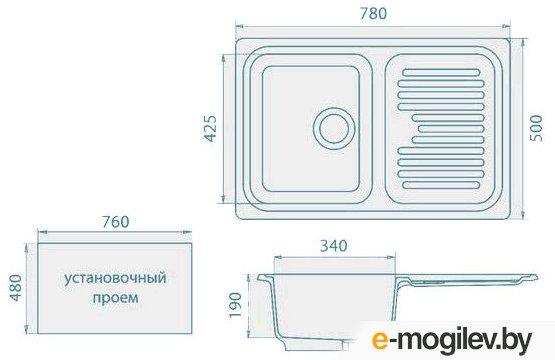 Мойка кухонная ЭКО-М M-78 терракот