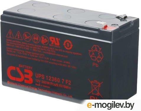 Аккумуляторная батарея для ИБП 12V 7.5Ah ''CSB'' [UPS12360] 7 F2