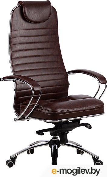 Кресло офисное Metta Samurai KL1 коричневый, кожа