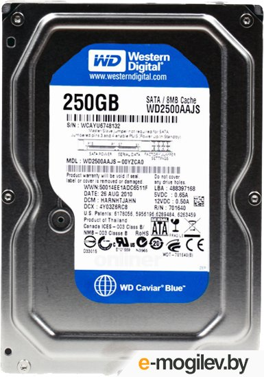 Western Digital 0250 WD2500AAJS