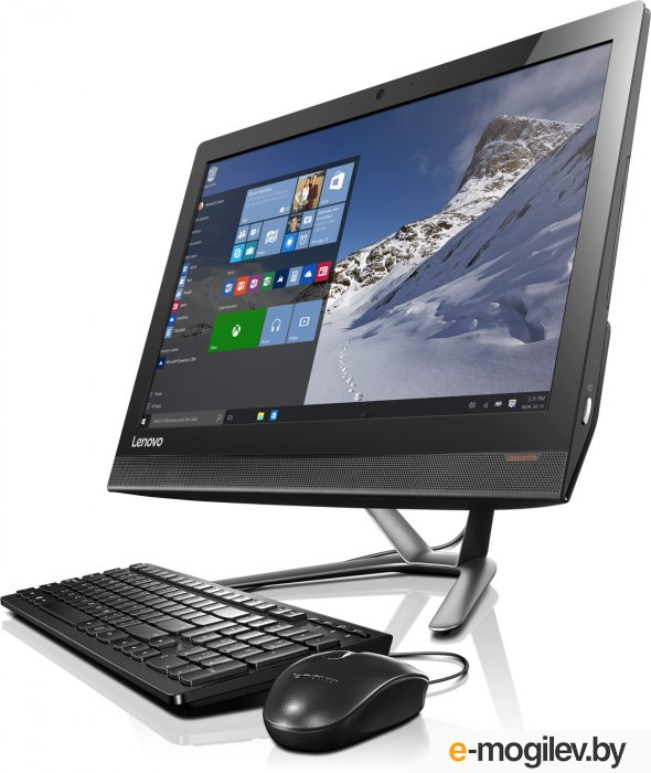 "Lenovo IdeaCentre 300-23ISU 23"" Full HD P 4405U/4Gb/1Tb 7.2k/DVDRW/Windows 10 Professional/GbitEth/WiFi/BT/клавиатура/мышь/Cam/черный 1920x1080"