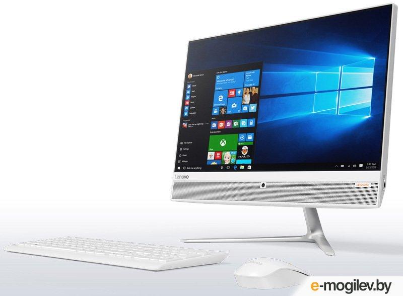 "Lenovo IdeaCentre 510-23ISH 23"" Full HD i3 7100T/4Gb/1Tb 7.2k/DVDRW/Windows 10/GbitEth/WiFi/BT/клавиатура/мышь/Cam/белый 1920x1080"