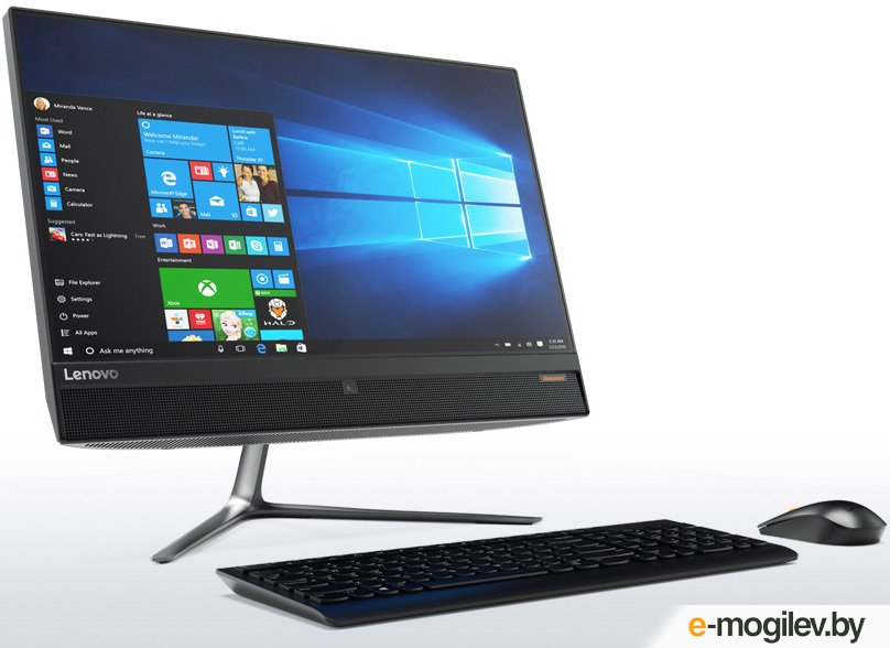 Lenovo IdeaCentre 510-23ISH 23 Full HD i5 7400T/4Gb/1Tb 7.2k/DVDRW/Free DOS/GbitEth/WiFi/BT/клавиатура/мышь/Cam/черный 1920x1080