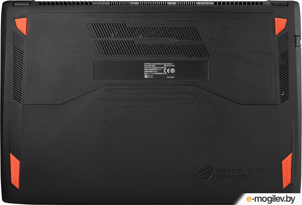 """ASUS ROG GL502VT-FY010T 15.6""""(1920x1080)/Intel Core i7 6700HQ(2.6Ghz)/8192Mb/1000+128SSDGb/noDVD/Ext:nVidia GeForce GTX970M(3072Mb)/Cam/BT/WiFi/50WHr/war 1y/2.4kg/forge/W10"""