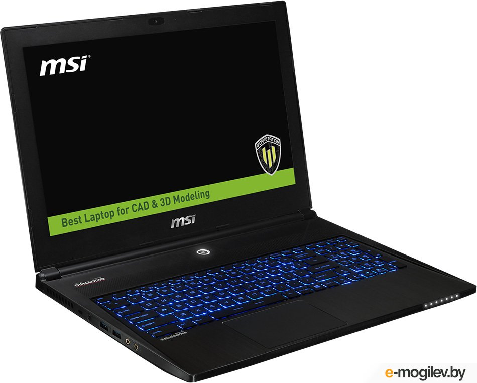 "Ноутбук MSI WS60 6QJ-641RU 15.6""(3840x2160)/Intel Core i7 6700HQ(2.6Ghz)/16384Mb/1000+2x128SSDGb/noDVD/Ext:nVidia Quadro M2000M(4096Mb)/Cam/BT/WiFi/47WHr/war 3y/1.9kg/black/W10Pro"