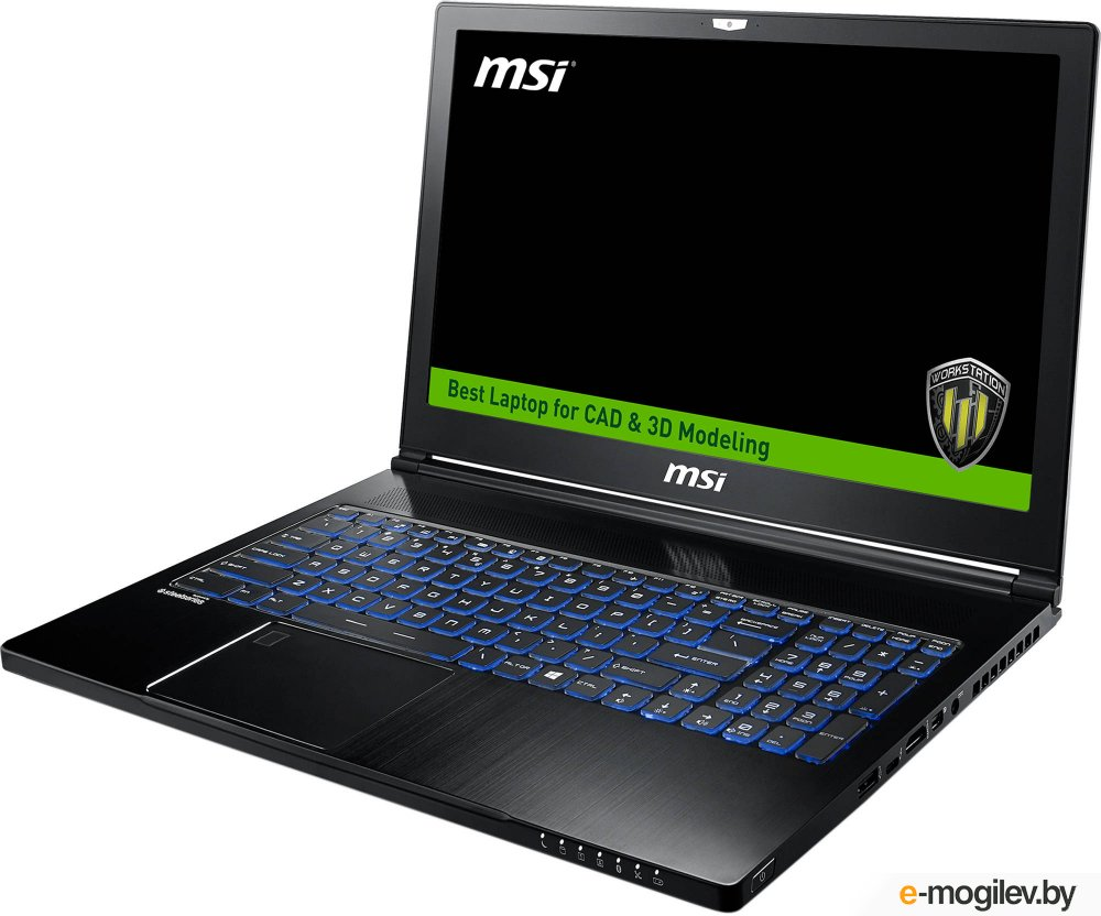 "Ноутбук MSI WS63 7RK-429RU 15.6""(1920x1080 (матовый))/Intel Core i7 7700HQ(2.8Ghz)/32768Mb/1000+128SSDGb/noDVD/Ext:nVidia Quadro P3000(6144Mb)/Cam/BT/WiFi/65WHr/war 3y/1.8kg/black/W10Pro"