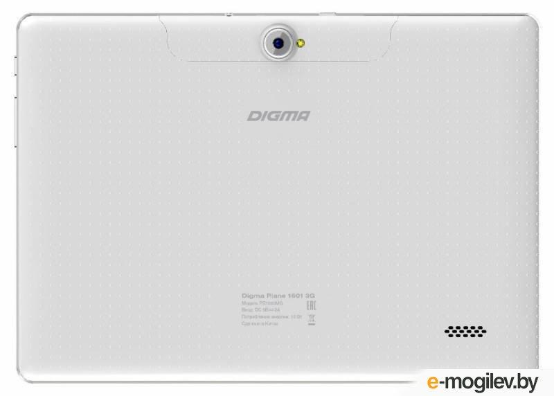 "Планшет Digma Plane 1601 3G MTK8321 (1.3) 4C/RAM1Gb/ROM8Gb 10.1"" IPS 1280x800/3G/Android 5.1/белый/2Mpix/0.3Mpix/BT/GPS/WiFi/Touch/microSD 128Gb/minUSB/5000mAh"