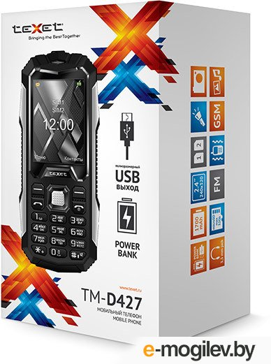 teXet TM-D427 черный