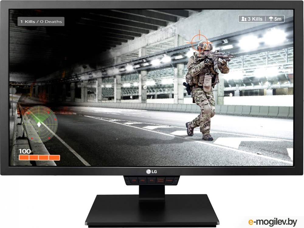 "МОНИТОР 24"" LG 24GM79G-B Black (LED, Wide, 1920x1080, 1ms, 178°/178°, 350 cd/m, 100,000,000:1, +DP, +НDMI, +MM, +2xUSB, +Pivot)"