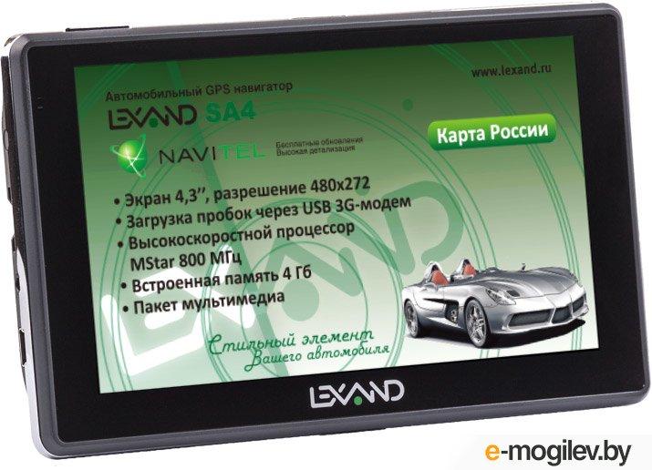 "Lexand SA4 4.3"" 480x272 4Gb microSD FM-Transmitter серый Navitel"