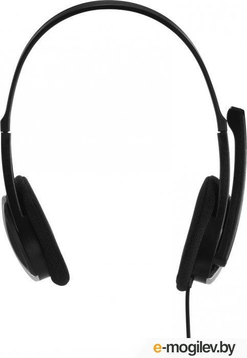 Hama Essential HS 200 черный 2м мониторы оголовье (00139900)