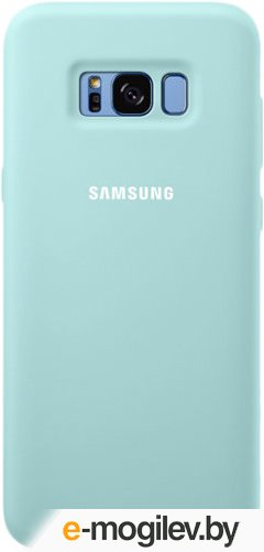 Чехол (клип-кейс) Samsung для Samsung Galaxy S8+ Silicone Cover голубой (EF-PG955TLEGRU)