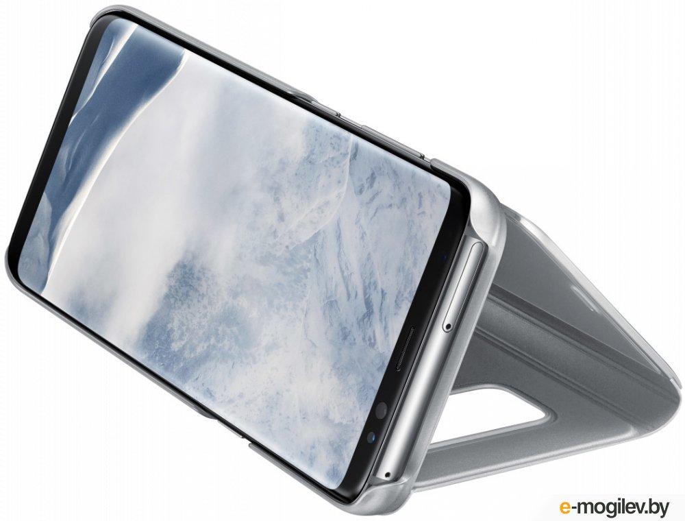 Чехол (флип-кейс) Samsung для Samsung Galaxy S8+ Clear View Standing Cover серебристый (EF-ZG955CSEGRU)