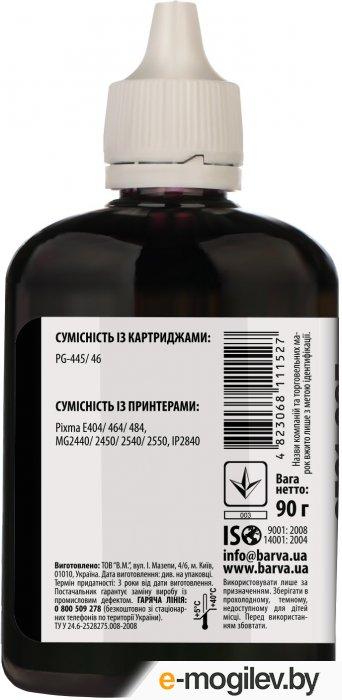 Чернила BARVA (C445-437) для CANON E404/MG2440/IP2840, 90мл, <Black>