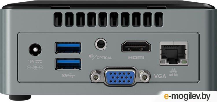 "Неттоп Intel NUC [BOXNUC6CAYSAJ] Cel J3455, 2GB SODIMM (2xslot DDR3L SODIMM (max 8GB)), 32GB eMMC+2.5"" SATA SSD/HDD+SDXC UHS-I, Wireless-AC 3168 (M.2 30mm) Bluetooth 4.2, Intel HD Graphics, HDMI+Combo, Win"